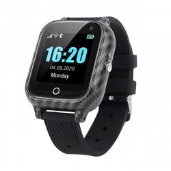 BodyOne Health Watch GSM Wrist Black Temperature SOS Pedometer Detects Fall