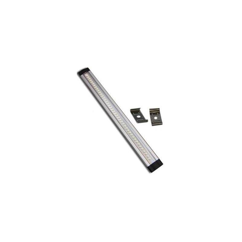 STRI SCI BAR LED 50cm ALUMINIO RIGIDO COMPONIBLE 12V con soportes de montaje
