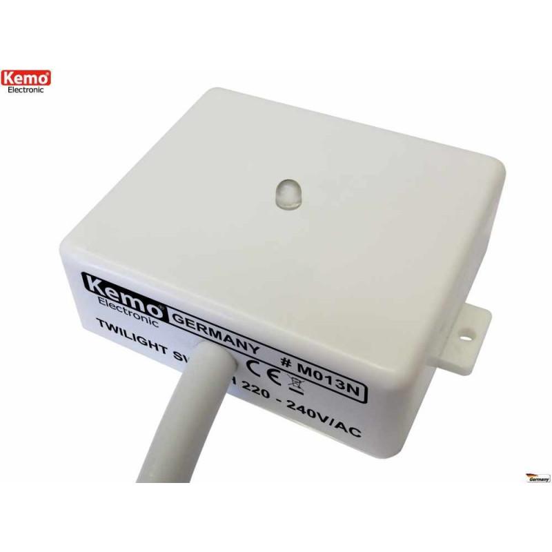 Interruptor de sensor crepuscular para exterior e interior 230V con salida de contacto de relé