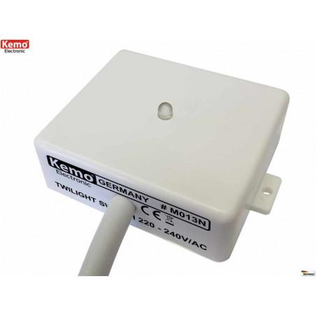 Interruttore sensore crepuscolare da esterno interno 230V con uscita a contatti relè