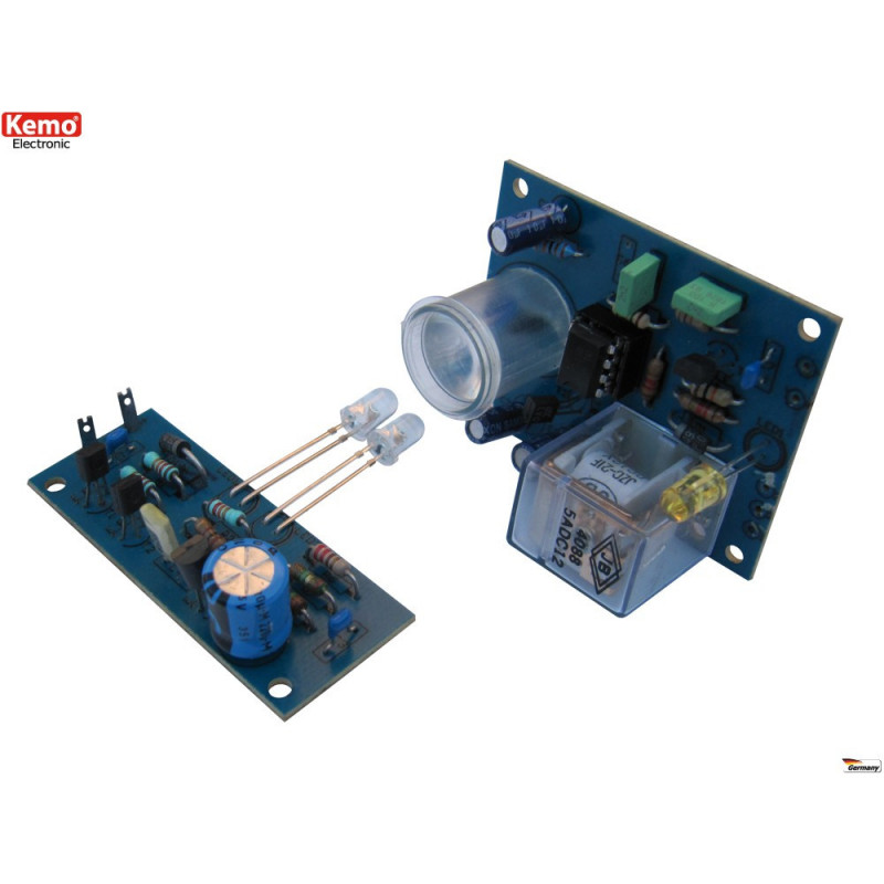 KIT barriera infrarossi IR fotocellula 50m 12V DC con uscita a relè