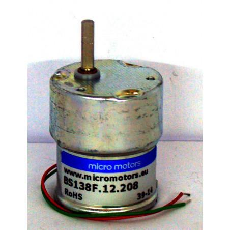 Mini moto riduttore 6-12V DC 20 Ncm 9 rpm 95mA motore micro motors B138F