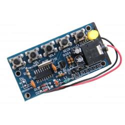 KIT ricevitore FM 76-108 MHz STEREO chip digitale HEX3653 uscita jack cuffie