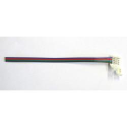Raccordo apribile con fili per strisce striscia LED multicolore RGB a 4 contatti