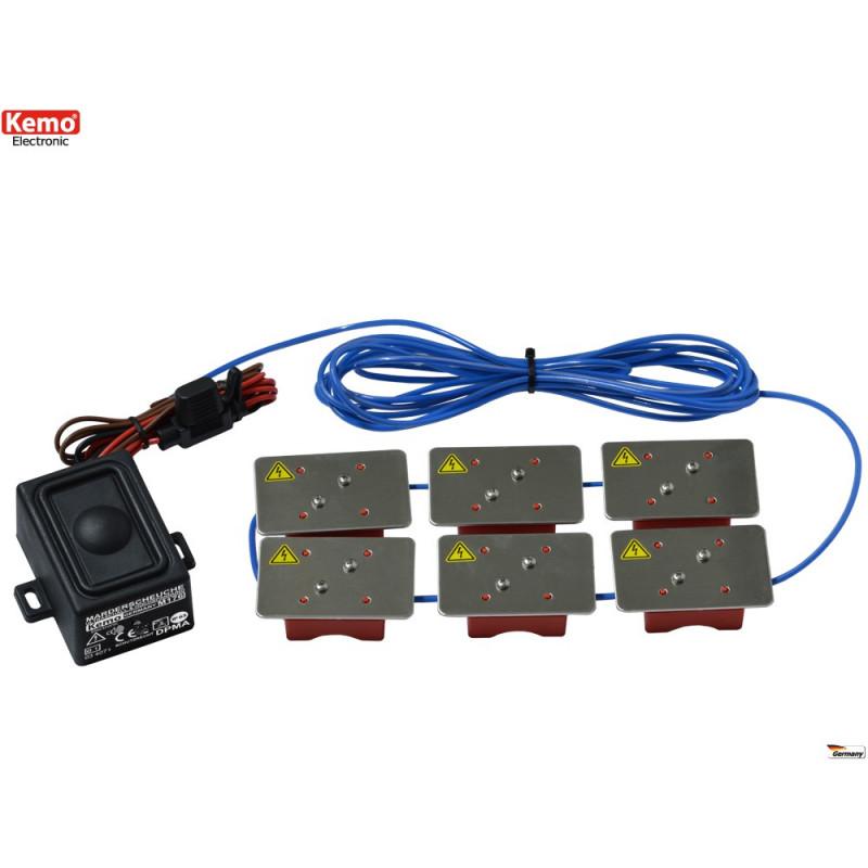 Repellente ultrasuoni alta tensione Topi Martore Roditori auto impermeabile IP65