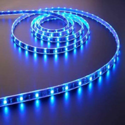 Roll 5 meters adhesive LED strip smd 5050 tri-chip IP65 cold white 12V DC