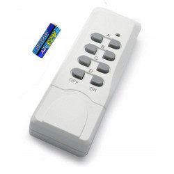 Additional 4-channel remote control for Avidsen radio-controlled sockets with battery