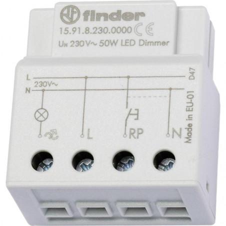 Regolatore dimmer elettronico Finder incasso 15.91 230 V/CA lampade LED e inc.
