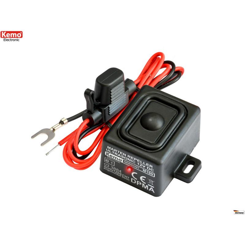 Ratones repelentes ultrasónicos Martens Roedores automotrices, hogar impermeable IP65 12V DC