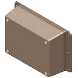 Boîtier électronique en plastique gris avec bandes de fixation latérales 137x84x41 mm