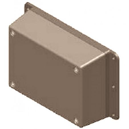 Contenitore case plastico grigio elettronica con bande laterali di fissaggio 137x84x41 mm