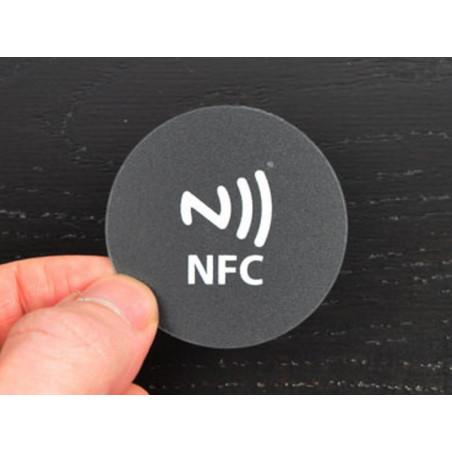 TAG NFC adesivo circolare 45mm policarbonato esterno interno impermeabile