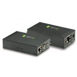 Extender amplificatore prolunga VGA + Audio su cavo tipo Ethernet Cat 5/6 fino a 300m