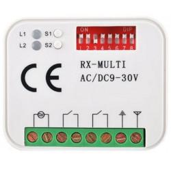 Récepteur radio sans fil universel à auto-apprentissage de 300 à 868 MHz 2 canaux