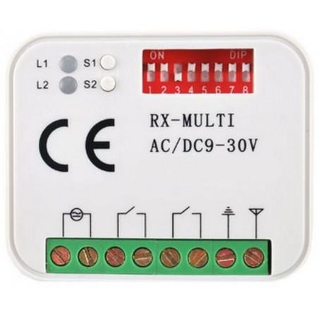 Ricevitore radio wireless autoapprendimento universale da 300 a 868 MHz 2 canali