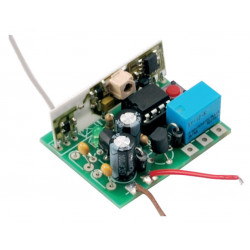 Universal self-learning wireless radio receiver from 300 to 868 MHz 2 channels