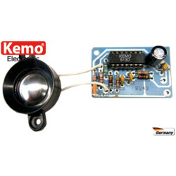KIT Repellente disturbatore ultrasuoni animali e insetti 12V DC altoparlante piezo