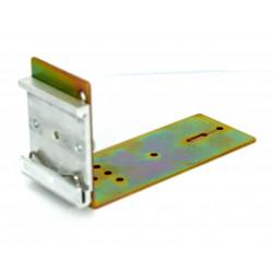 Soporte de carril DIN metálico Estante de 11 cm para conmutar fuentes de alimentación en caja metálica