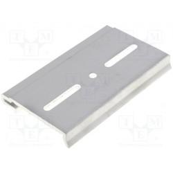 Crochet de rail DIN métallique pour alimentations à découpage arrière dans un boîtier métallique