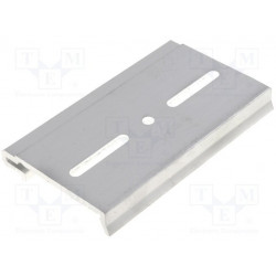 Metal DIN rail hook for rear switching power supplies in metal case