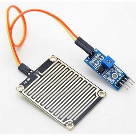 Sensore pioggia per Arduino ed embedded con piastrina di rilevazione e trasduttore