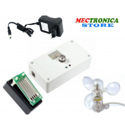 Awning and rolling shutter control unit with rain and wind sensor included