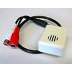 Micrófono preamplificado de 12V para videovigilancia con salida RCA
