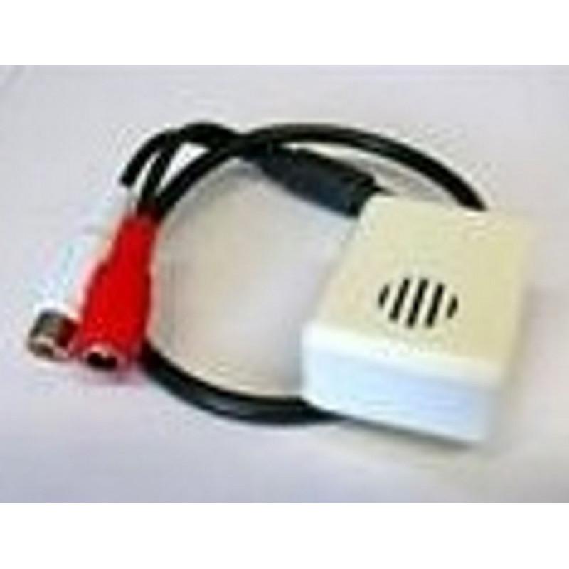 Microfono pre amplificato 12V per videosorveglianza con uscita RCA