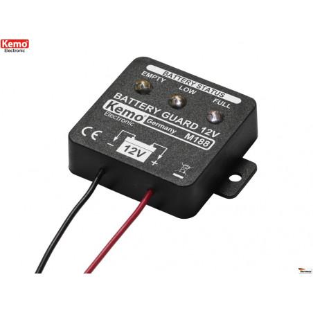Indicatore livello carica batterie piombo 12V universale a 5 livelli LED