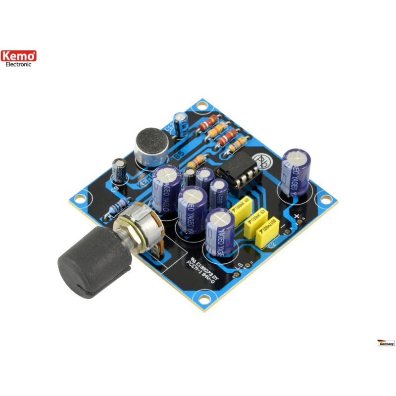 KIT microfono parabolico alta sensibilità 9V DC uscita cuffie portata oltre 100m
