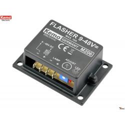 Lampeggiatore elettronico regolabile lampade LED o filamento 9-48V DC 10A