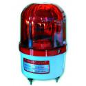 Lampada roteante 360° segnalazione colore ROSSO alimentazione 220V