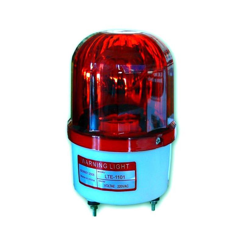 Lámpara giratoria 360 ° color ROJO Fuente de alimentación 220V