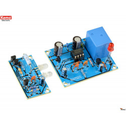 KIT barrera de luz infrarroja 18m transmisor receptor 12V DC salida de relé