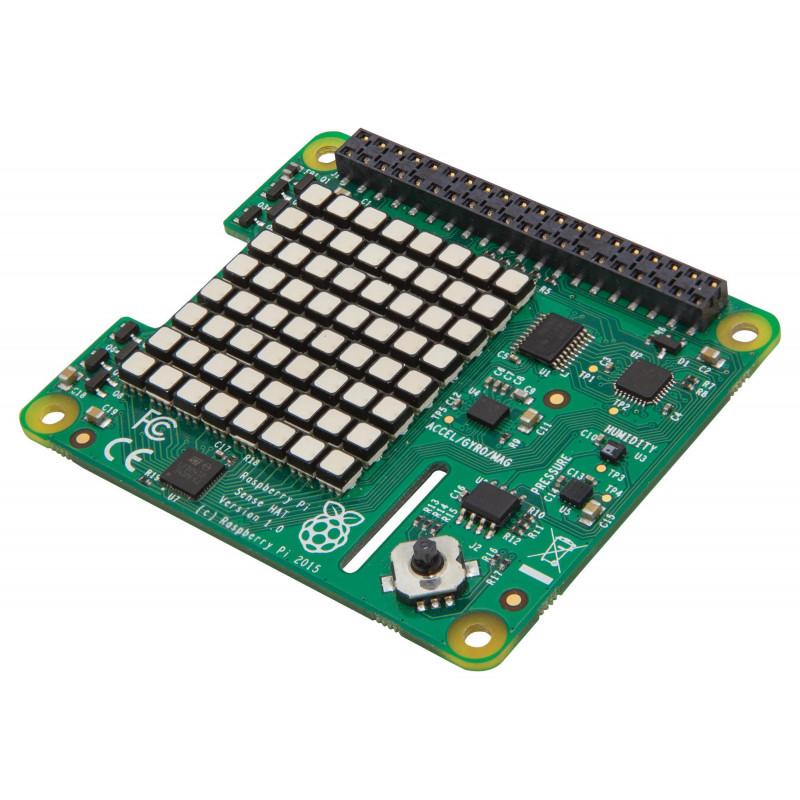 Placa de expansión SENSE HAT para Raspberry PI con sensores, entradas, visualización