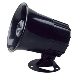 Sirena piezo 1/6 toni alta potenza 6-14V DC 112 dB 20W tromba antifurto e allarmi