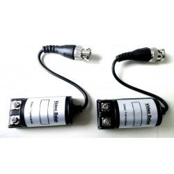 Video balun pair to connect analog cameras with twisted CAT 5E cable