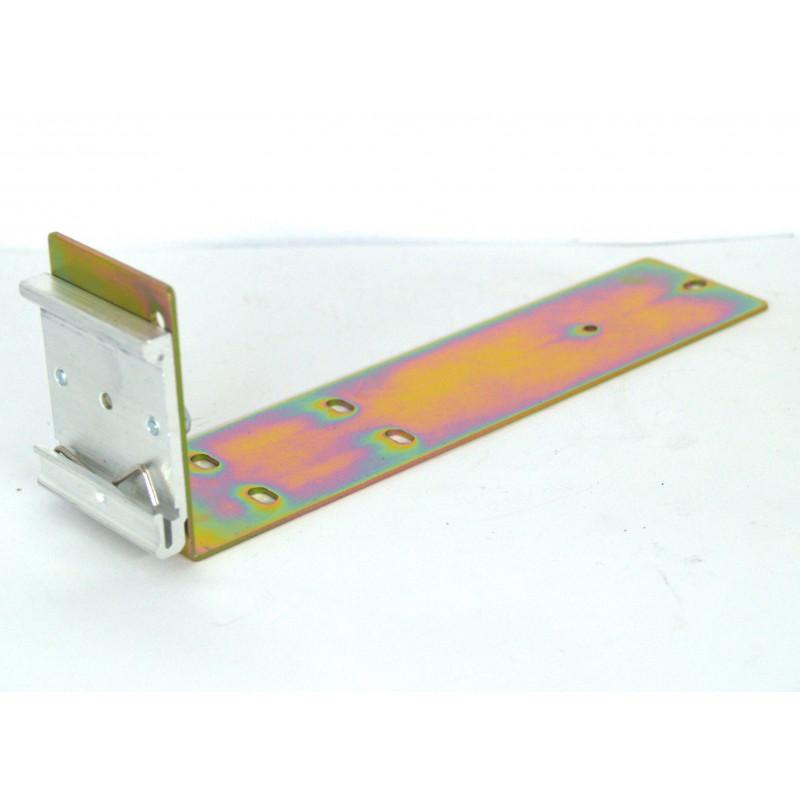 Supporto barra DIN in metallo mensola 19cm per alimentatori switching in case metallico