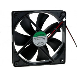 12V DC brushless cooling fan 80x80x25 4-pin molex through connector