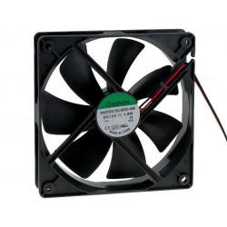 Ventola raffreddamento brushless 12V DC 80x80x25 connettore passante molex 4 pin