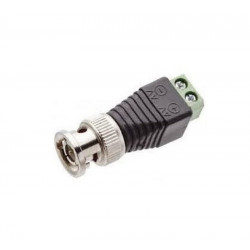 Standard male BNC coaxial plug adapter with 2 screw terminals