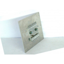 Metal DIN bar support for rear switching power supplies in metal case