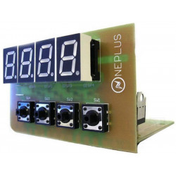 KIT Programmable digital electronic thermostat -55-125C DS18B20 alarm relay