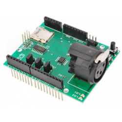Arduino DMX512 con conector XLR y lector microSD