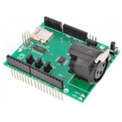 Shield Arduino DMX 512 con connettore XLR e lettore microSD
