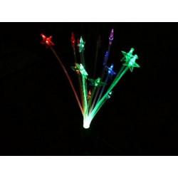 Fuente de alimentación USB electrónica LED multicolor orquídea brillante y baterías
