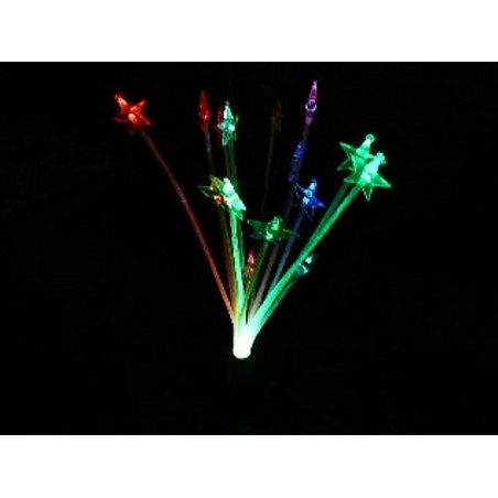 Orchidea luminosa LED multicolore elettronica alimentazione USB e batterie