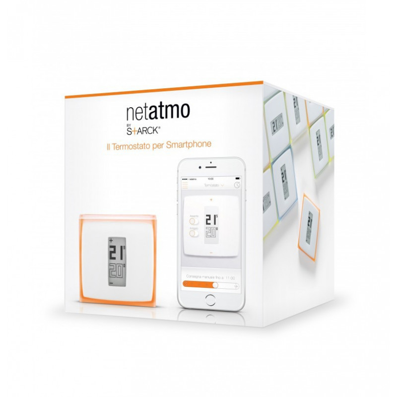 Netatmo Termostato Wireless WiFi caldaia Smartphone Tablet PC internet multicolore
