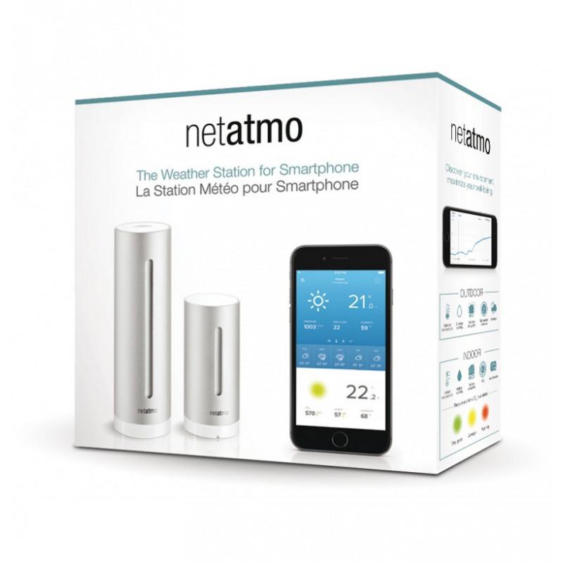 Netatmo stazione meteo wireless WiFi unità esterna + interna Smartphone Tablet PC internet