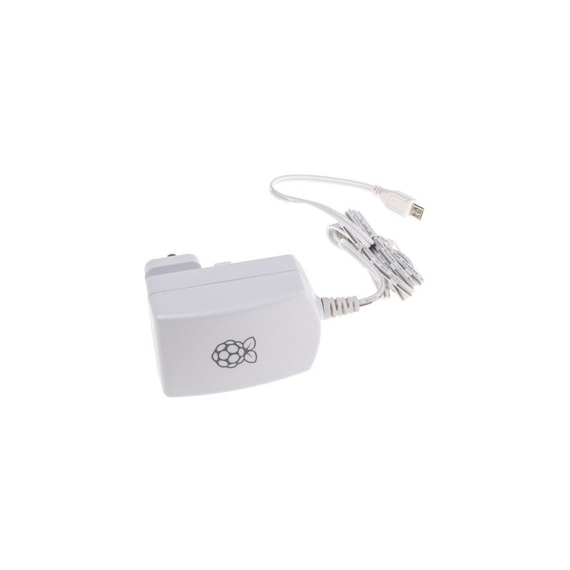 Alimentatore spina universale micro USB B 5V 2A ufficiale per Raspberry Pi